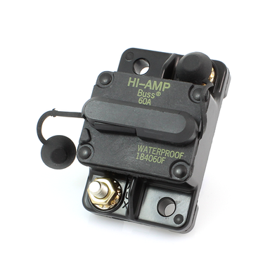 60 Amp Manual Reset Hi Amp Circuit Breaker CE60AMP - Connect-Ease. Connect all your marine equipment with ease.