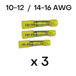 Step Down Heat Shrink Butt Splices 10-12 to 14-16 AWG (CE1016) - Connect-Ease. Connect all your marine equipment with ease.
