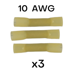 10 AWG Heat Shrink Butt Splices - 3 in each pack (CE10BS) - Connect-Ease. Connect all your marine equipment with ease.