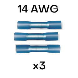 14 AWG Heat Shrink Butt Splices - 3 in each pack (CE14BS) - Connect-Ease. Connect all your marine equipment with ease.