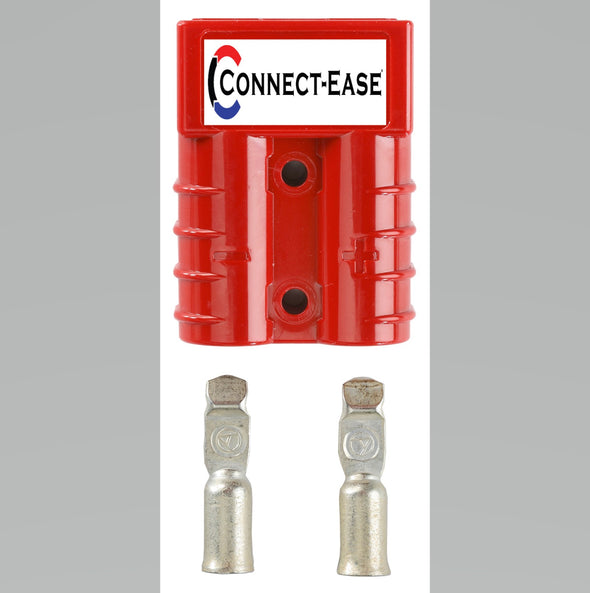Red Connector (120 Amp): 2-8 Gauge Pins (CE50-8) - Connect-Ease. Connect all your marine equipment with ease.