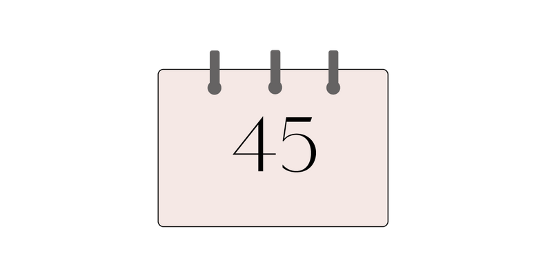 45 days return policy