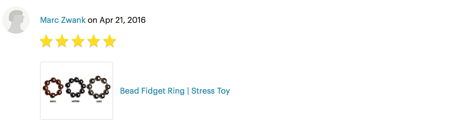 Bead Fidget Ring | Stress Toy product review