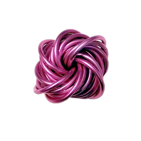 Chainmail Vortex Fidget Stress Ball | Pink Anodized Aluminum