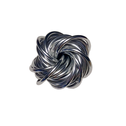 Chainmail - Bright Silver Anodized Aluminum Vortex Fidget