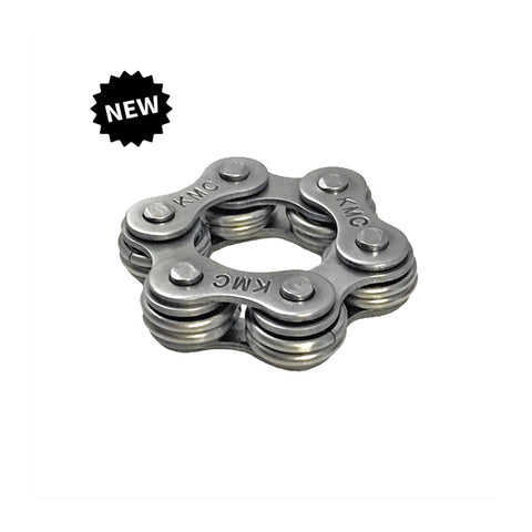 Bike Chain Star w/ Steel Rings Fidget | Stress Toy