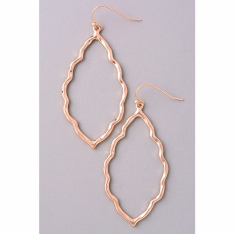 Leaf Drop Gold Earrings