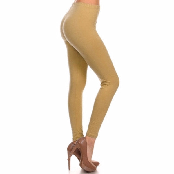 Basic Leggings in Tan - Chicks Picks Boutique - 1