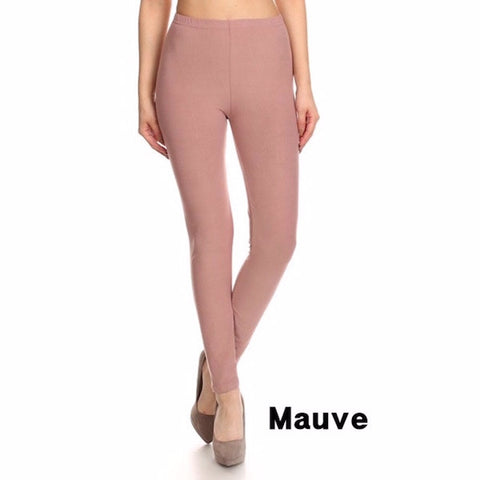 Basic Leggings in Mauve
