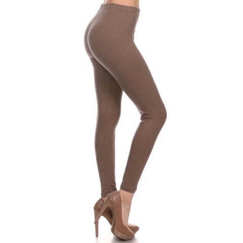Basic Leggings in Mocha Brown