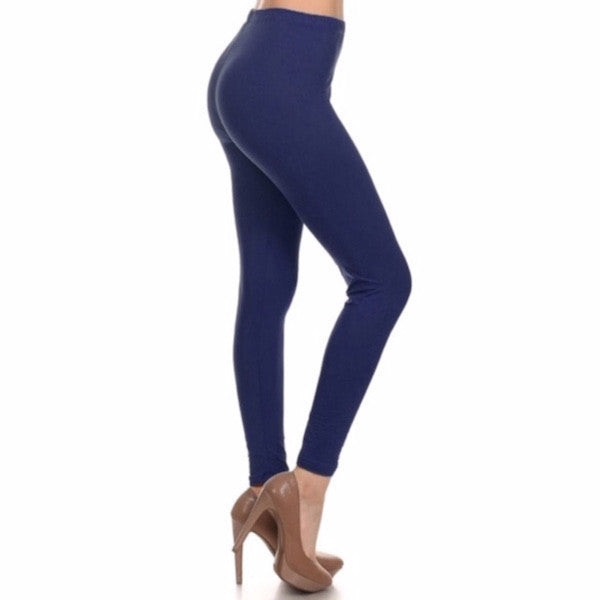 Basic Leggings in Navy - Chicks Picks Boutique - 1