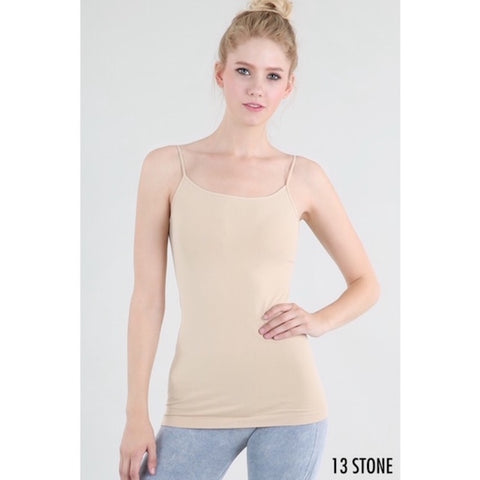Seamless Long Camisole in Nude
