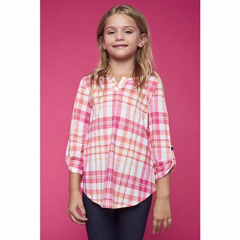 Girls Plaid Tunic Top