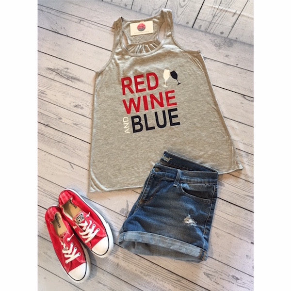 Red Wine and Blue Racerback Tank