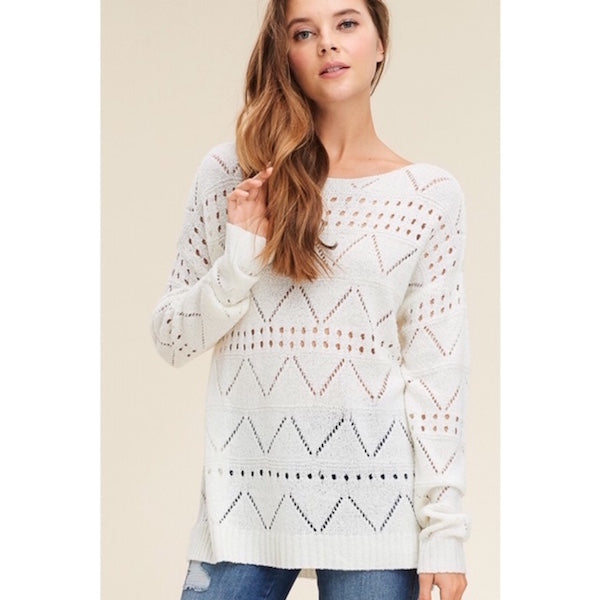 06e572ff9a5 Off White Lightweight Sweater – Chicks Picks Boutique