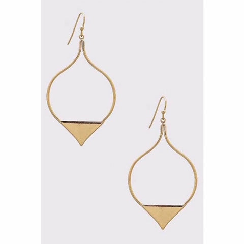 Marquis Loop Triangle Earrings Gold