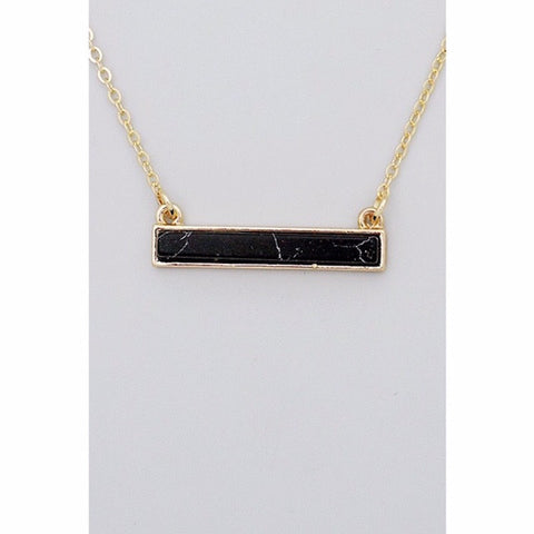 Bar Necklace Black