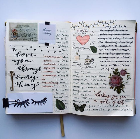 what to write on the first page of a diary