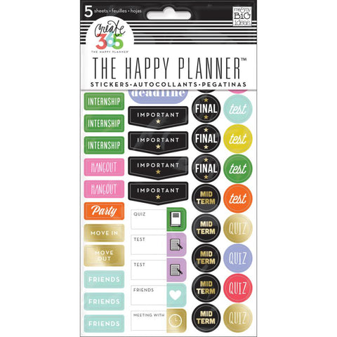 Me & My Big Ideas Create 365 Planner Stickers 5 Sheets