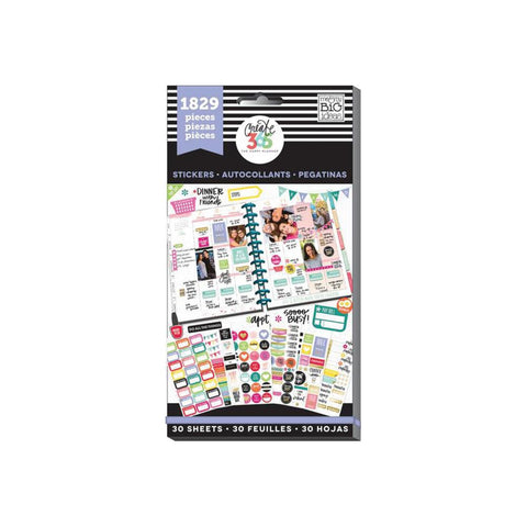 Me & My Big Ideas Create 365 Happy Planner Sticker Value Pack- Basics