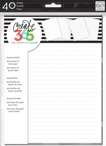 Me & My Big Ideas- Create 365 Note & Graph Planner Fill Paper, 40 sheets