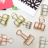 Pack of 12 Skeleton Binder Clips by Elmina