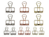 Creoly Pack of 12 Skeleton Binder Clips