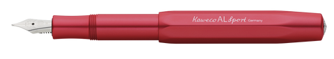 New Kaweco AL Sport Fountain Pen Fine Nib | Deep Red