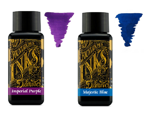 Diamine - 30ml Fountain Pen Ink 2 Pack - Imperial Purple & Majestic Blue