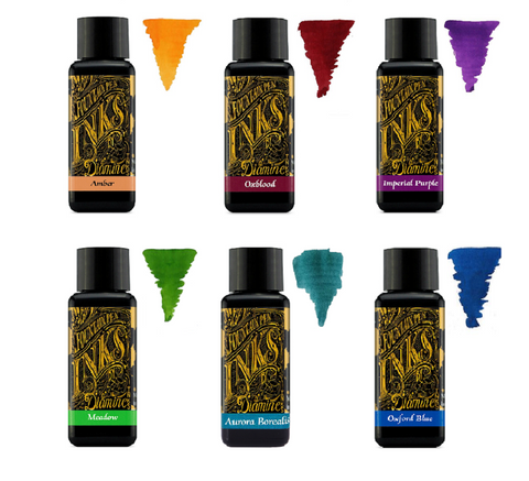 Diamine Fountain Pen Ink 30ml - Colour Wheel  - 6 Pack