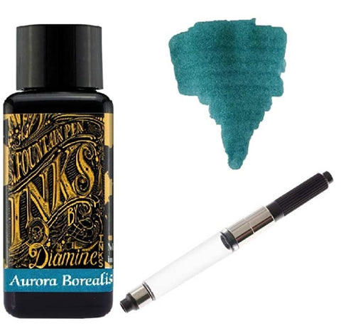 Diamine - 30ml Fountain Pen Ink Schmidt K5 Standard International Converter - Aurora Borealis