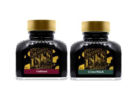Diamine - 80ml Fountain Pen Ink 2 Pack - Oxblood & Green Black