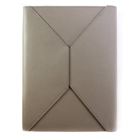 "Fortessa ""Corriere"" Taupe Ruled Leather Journal with Envelope design"