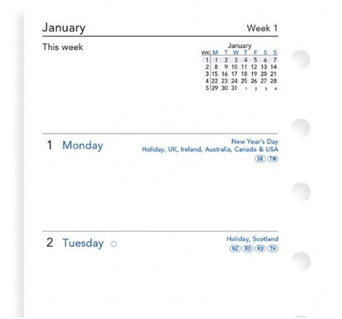 Filofax Week On Two Pages Diary A5 2021 (English)