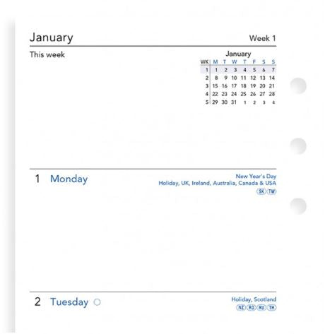 Filofax Week On Two Pages Diary Personal 2021 (English)