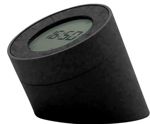 Gingko Edge Light Alarm Clock - Black