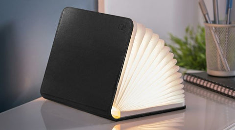 Gingko Electronics Mini Smart Book Light - Black Leather