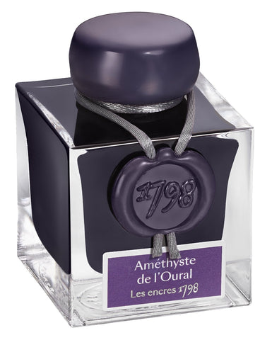 "J.HERBIN  ""1798"" Ink Bottle 50ml- Deep Purple"