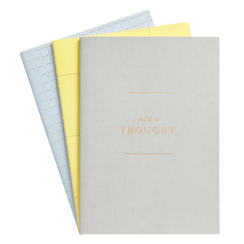 kikki.K - A5 Notebooks - Less is More - Essential 3 Pack - Mixed Colours