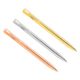 kikki.K - Metal Twist Ballpoint Pens - Essential 3 Pack Gift Box - Rose Gold, Silver and Gold