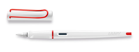Lamy - Joy Calligraphy Fountain Pen - White and Red - NEW 2019 Limited Edition!