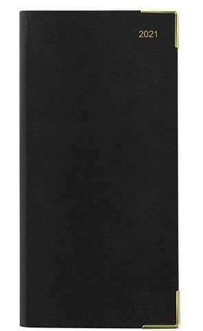 Letts Classic 2021 Week to View with Appointments Slim Diary - Black