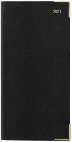Letts - Classic 2021 Week to View with Planners Slim Diary - Black