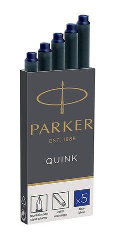 Parker - Quink Ink Cartridges - Box of 5 - Permanent Blue