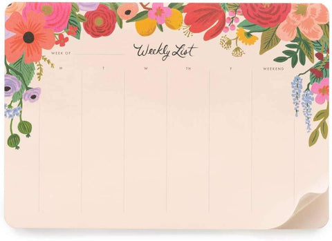 Rifle Paper Co. - Weekly Desk Pad Planner - Garden Party