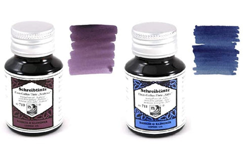 Rohrer & Klingner - 50ml Bottles Fountain Pen Ink Set - 2 x bottles - Scabiosa & Salix