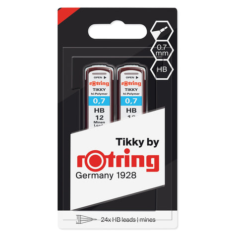 Rotring - 0.70mm Mechanical Pencil Leads - HB - 2 Pack