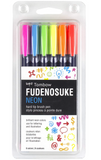 Tombow Dual Brush Fudenosuke Neon Brush Set
