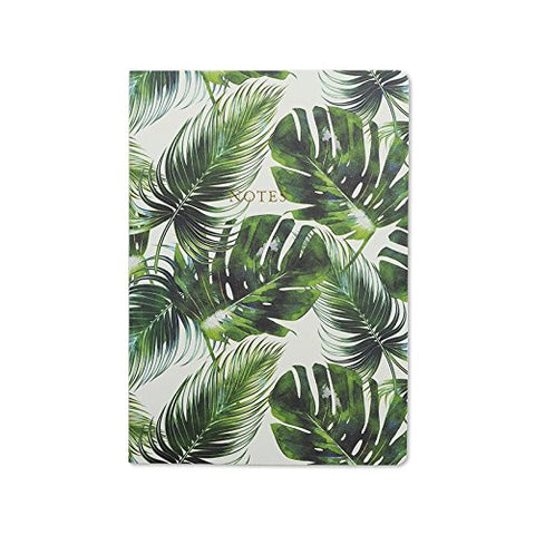 Go Stationery Luxury A5 Notebook | Tropical Leaf