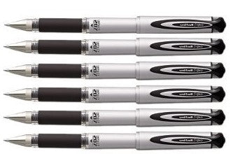 Uni-Ball Signo 207 Impact Rollerball Pen - Black - 6 Pack